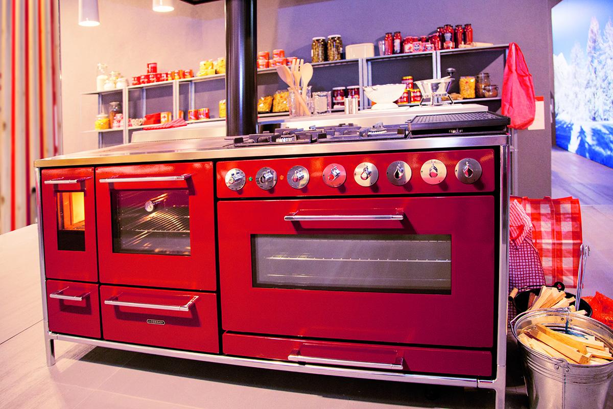 Una cucina a legna